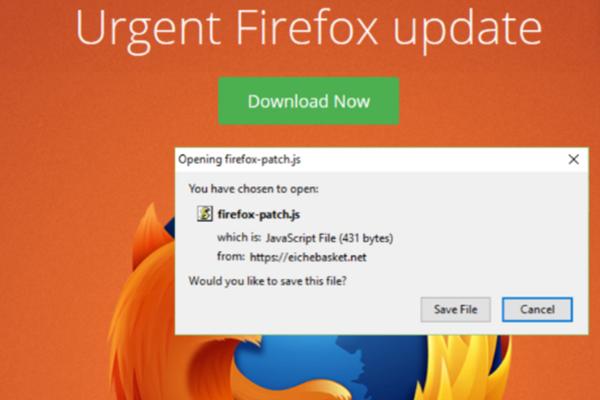 Fake Firefox Malvertising Trap -- Beware!